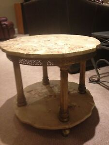 Beautiful Antique marble end table