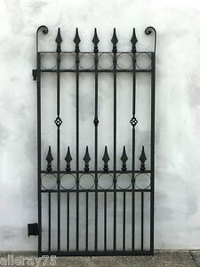 BEAUTIFUL  BRAND NEW side pedestrian GATE WROUGHT IRON  BLACK