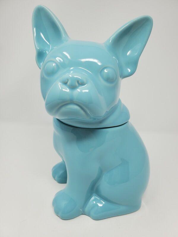 Threshold French Bulldog Cookie Jar Light Blue,