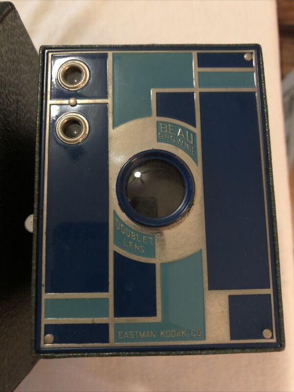 Kodak 1930 Art Deco No.2 Beau Brownie Camera Blue Mint Condition Rare