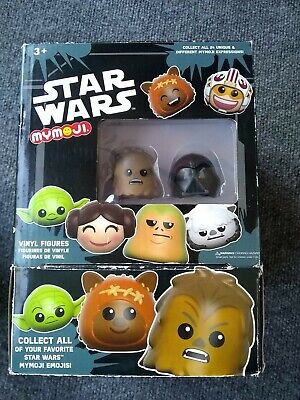 Funko STAR WARS MyMoji EMPTY DISPLAY BOX case w/ Chewbacca & Darth Vader Figures