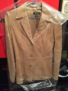 Soft Suede honey iced coffee coloured jacket size 8 Butler Wanneroo Area Preview