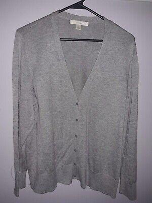 Sejour Plus  Ladies Size 2X Grey Button Up Cardigan Sweater