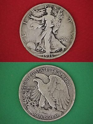 MAKE OFFER $10.00 Face Value 90% Silver Walking Liberty Half Dollars Junk Coins