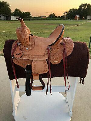 "12"" New Western Leather Youth Child Horse Pony Ranch Saddle"