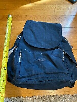 Kipling black Nylon Small Backpack drawstring