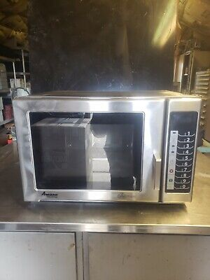 Amana Menumaster 2100 Watt Stainless Steel Commercial Microwave