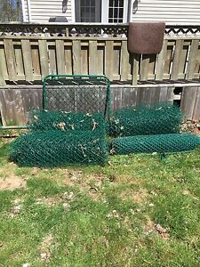 Approximately 200 ft chain link fence.