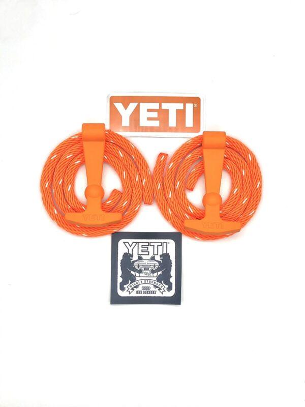 YETI Tundra Cooler Latch Kit - Rope,handles & sticker Blaze Orange1 Free Sticker