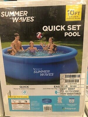 Summer Waves Intex 10ft x 30in Pool with Filter IN HAND FAST FREE USA SHIPPING