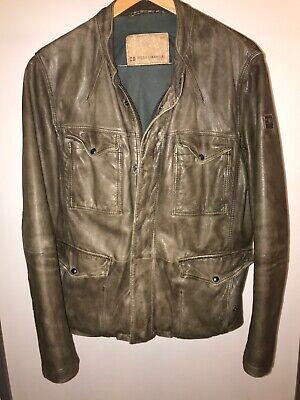 Mens Hugo Boss Leather Jacket Size 40 UK Large