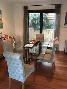 Glass Dining table and chairs North Narrabeen Pittwater Area Preview