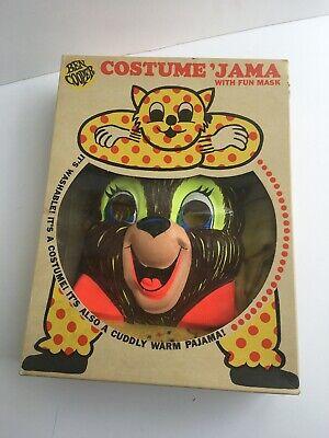 Vintage 1960s Ben Cooper Halloween Costume 'Jama - Teddy Bear Complete/w box