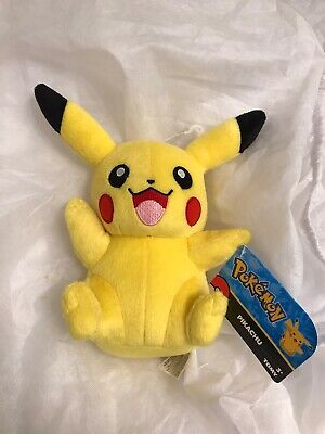 "NEW - 2016 TOMY POKEMON 8"" PIKACHU PLUSH TOY"