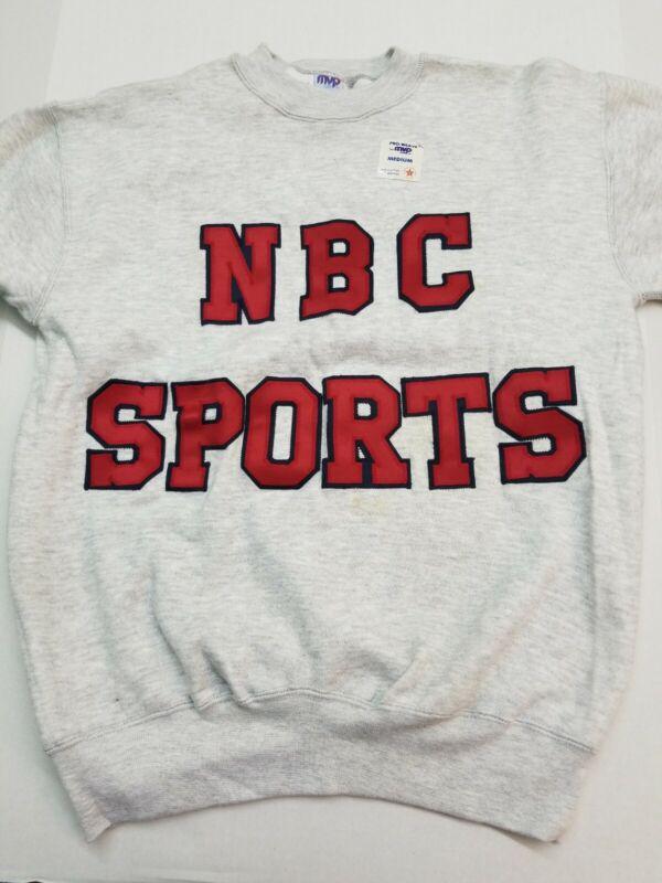 VINTAGE NBC SPORTS PRO WEAVE Medium CREWNECK SWEATSHIRT  New with Tags Cotton