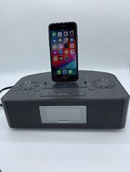 Philips AJ7260D Dual Dock Charging Clock Radio, New And Old iPhone iPod iPad USB