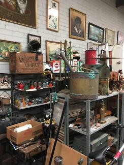 Huge factory full of collectible, retro, vintage items,hrs below