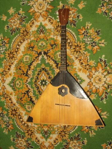 Balalaika vintage Russian 3 three String Alto. Folk instrument, wood