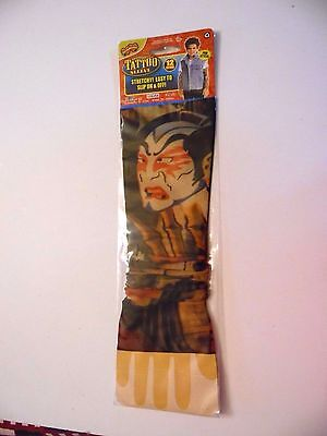Tattoo Sleeve Colorful Tiger & Devils Face Halloween Costume Adults & Kids - Tiger Face Halloween Costume
