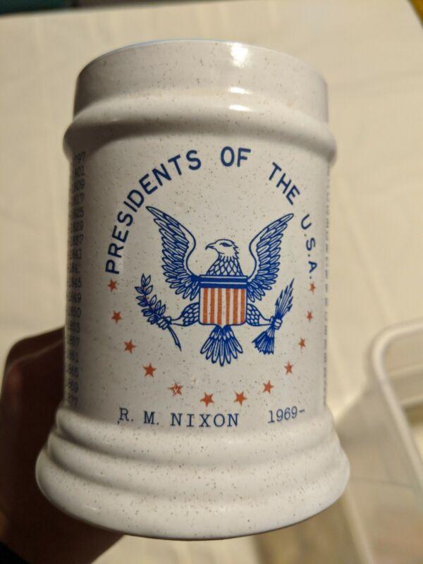 Historical USA Presidents Mug Washington to Nixon Presidential w Seal & Dates
