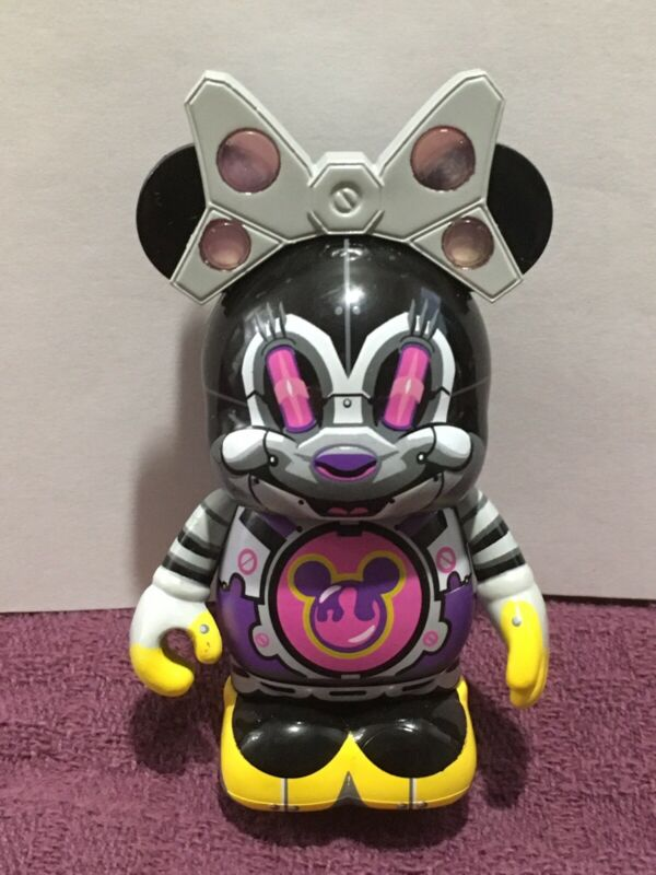 "Disney Vinylmation 3"" Park Set 3 Robots Minnie Mouse Bot"