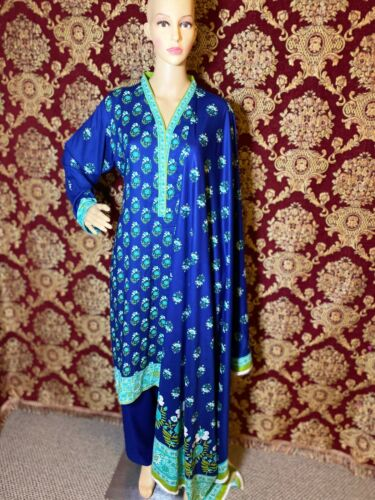 Pakistani/ Indian Style Stitched Linen Salwar Kameez/ Trendy/ Traditional/ Dress