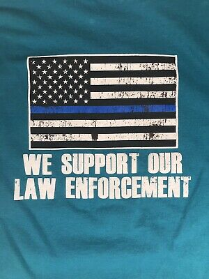 Gildan TShirt Mens XL We Support Our Law Enforcement Building Cooler Communities