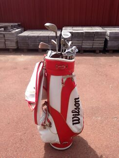 Left handed golf clubs and Wilson bag Maddington Gosnells Area Preview