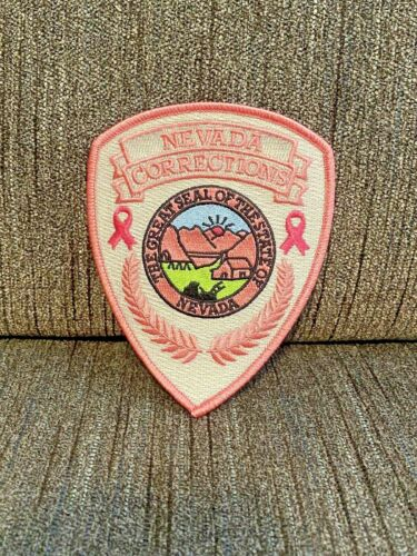 NEVADA DEPARTMENT OF CORRECTIONS PATCH BREAST CANCER NDOC LAS VEGAS RARE POLICE