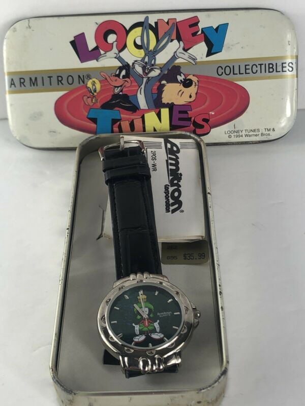 New Armitron Looney Tunes Marvin the Martian 1994 Watch in Original Tin