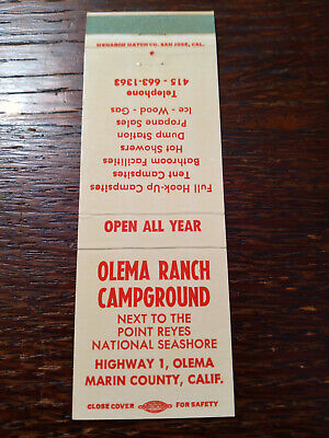 Vintage Matchcover: Olema Ranch Campground, Marin County, CA   84