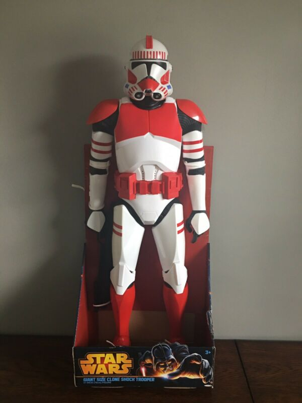 "Star Wars Clone Shock Trooper Giant Size 31"" Inch Action Figure Jakks Pacific"