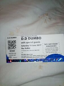 3 tickets for D.D Dumbo, playing in Newstead, Brisbane. June 10 Brisbane City Brisbane North West Preview