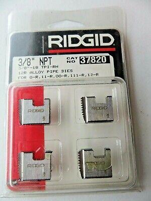 Ridgid 37820 Manual Threader Pipe Bolt Dies - 38 Npt - Alloy Rh New
