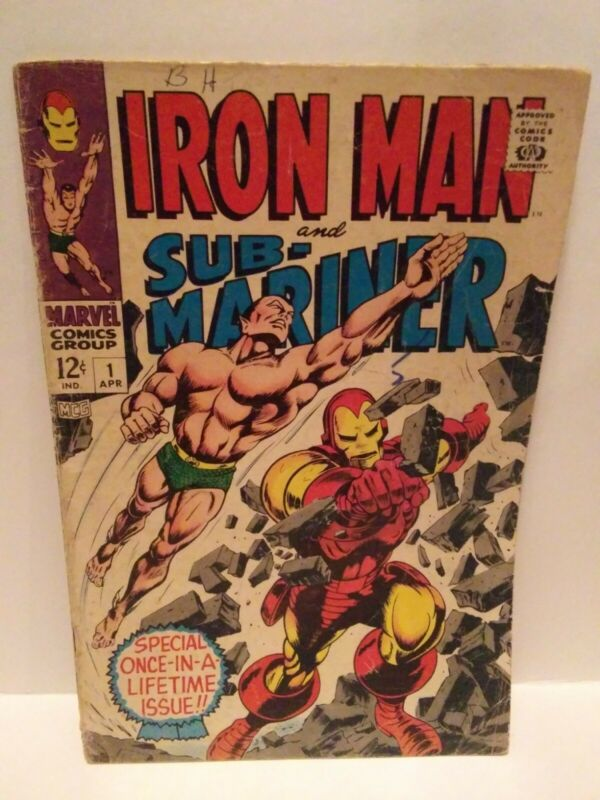 MARVEL COMICS - IRON MAN AND SUB-MARINER #1 (CLASSIC) - 4/1968 **FREE SHIPPING**