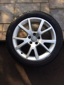 4 winter tires on Audi alloy rims A6