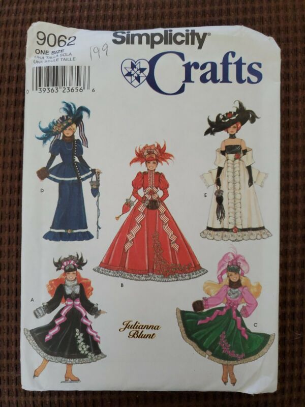 Simplicity Crafts 9062 Sewing Patterns For 11 1/2 In Dolls