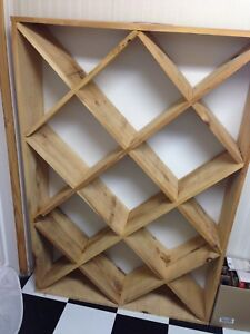 Wooden wine rack, holds ~170 bottles