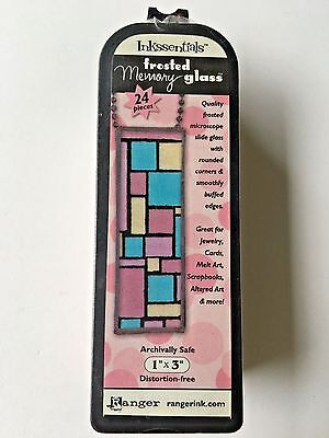 (Ranger Ink Inkssentials Jewelry Frosted Memory Glass 1 X 3 Mixed Media mem22275)