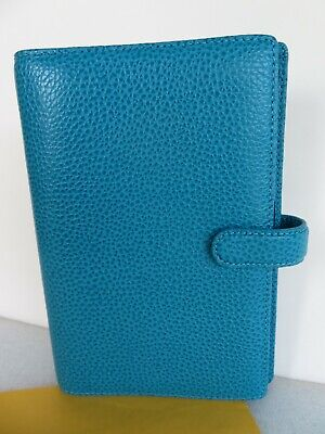 Filofax Finsbury Personal Organizer Planner Binder Leather Compact Turquoise