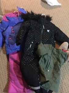 2 Girl Snow Suits (Size  18-24 months, and 2T)