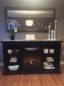 Fireplace - Entertainment Unit/Dining Room hutch