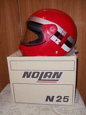 Motorradhelm NOLAN N25 Racing Rot Vintage Gr.M