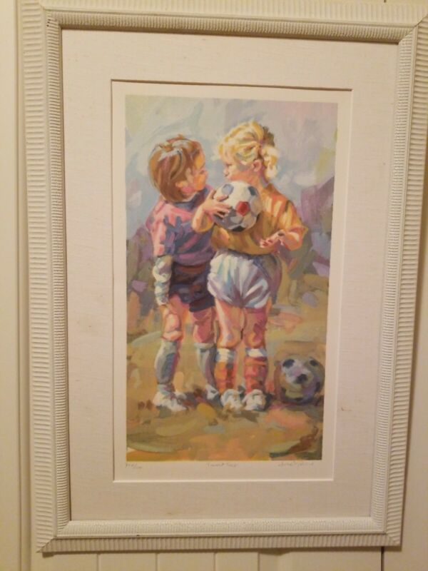 "Lucelle Raad ""Sweet Talk"" / ""Tips"" Serigraph On Paper.  Framed. Signed with COA"