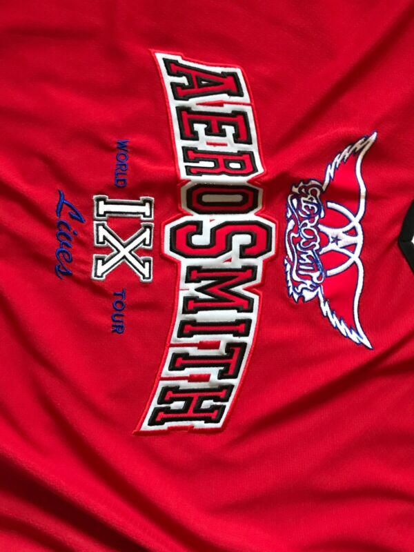 RARE! Aerosmith 9 Lives Red Rock Band Concert Collectors XL Sports Hockey Jersey