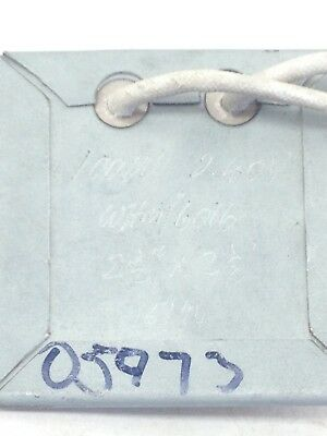 Whm 6016  100w 240v Metal Encased Square Heater Board 2.5 X 2.5 A319