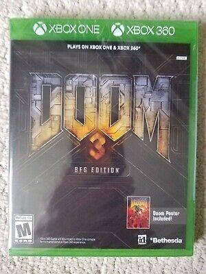Doom 3 - BFG Edition w/ Poster (Microsoft Xbox 360 / One) New Sealed G2 Case