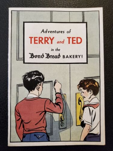 ADVENTURES OF TERRY AND TED IN THE BOND BREAD BAKERY 1950s promo booklet rare