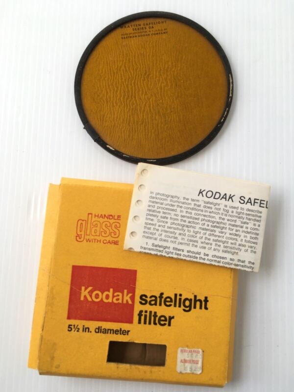 "Kodak 5.5"" (14cm) Safelight Filter OA (GREENISH YELLOW) B&W Wratten"