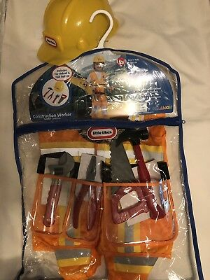 Little Tikes CONSTRUCTION WORKER dress up costume Toddler 2T NEW 240-11-1023